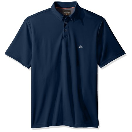 Quiksilver NEW Navy Blue Men Size Small S Short Sleeve Polo Rugby Shirt (Quiksilver Mens Polo)