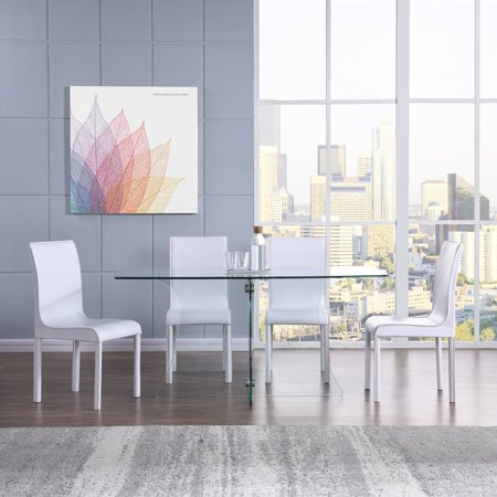 Superb Harper Blvd Dalberry Faux Leather Upholstered Dining Chairs 4Pc Set White Beatyapartments Chair Design Images Beatyapartmentscom