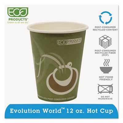 Evolution World 24% PCF Hot Drink Cups ECOEPBRHC12EW