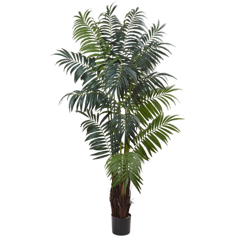 Nearly Natural 7.5' Bulb Areca Palm Tree