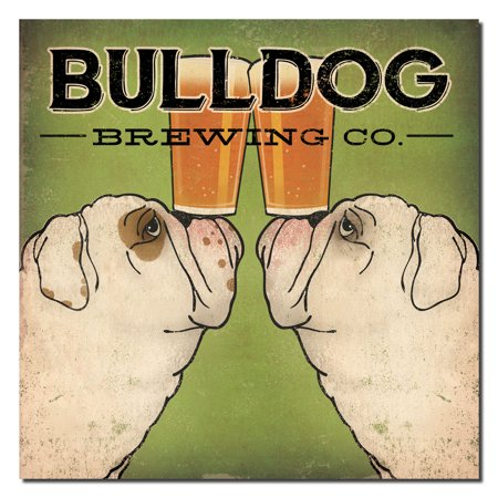 Popular Green and Black Bulldog Brewing Company Print by Ryan Fowler; One 12x12in Paper Poster Print](Halloween Black Light Posters)