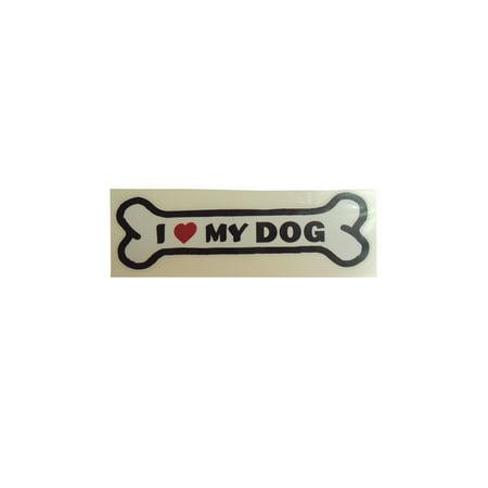 Graphic Designs 276MC I HEART MY DOG with Dog Bone Vinyl Decal Sticker, 276 MC