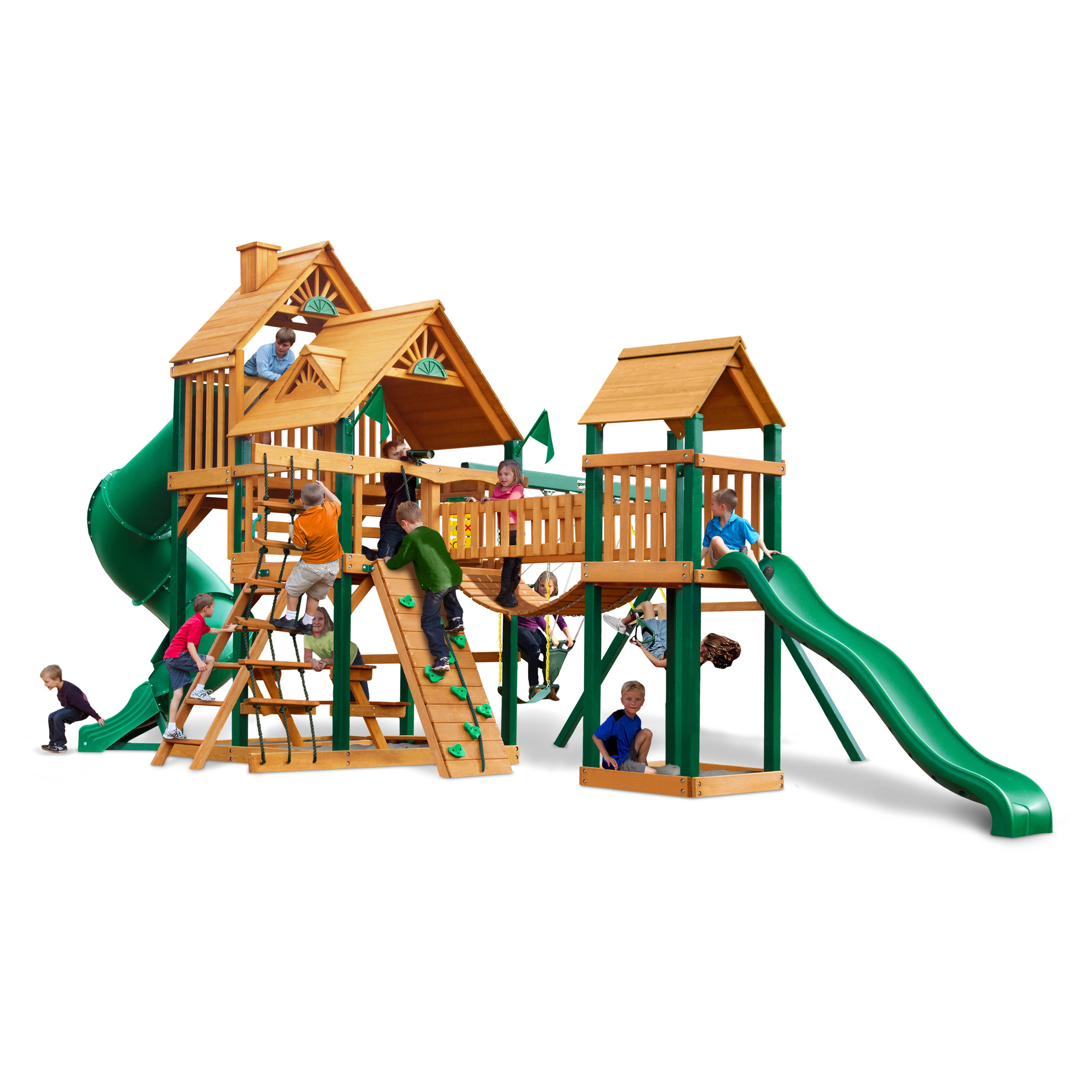 Gorilla Playsets Treasure Trove Wood Swing Set by Overstock