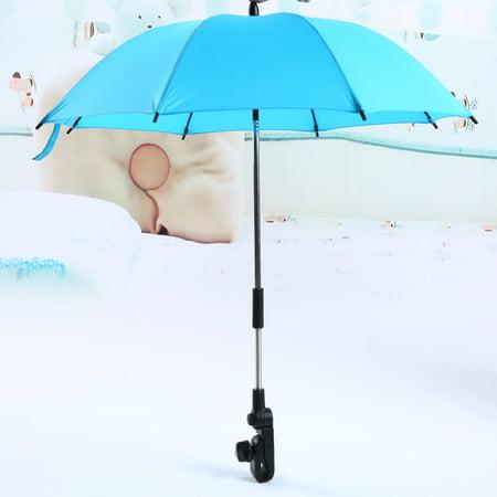 Baby strollers Umbrella,Pushchair Umbrella Holder UV Rays Rain Sun Canopy + Clip 360 Degrees Adjustable