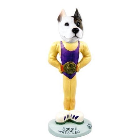 Pit Bull Terrier Wrestler Doogie Collectable Figurine