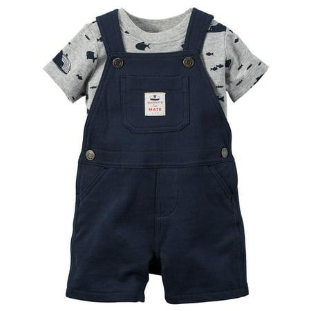 Carter's - Carters Baby Boys 2-Piece Tee & Shortalls Set ...