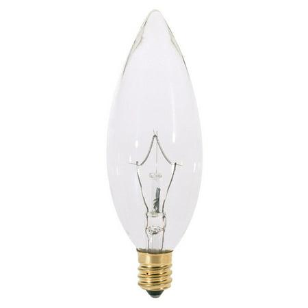 Satco S3387 40W 220V B10 Clear E12 Candelabra Base Incandescent - 40w B10 Candelabra Base Bulb
