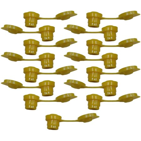 (15) Yellow Fuel Gas Can Jug Vent Caps Replacement Wedco Rotopax Gott Septer Anchor Blitz