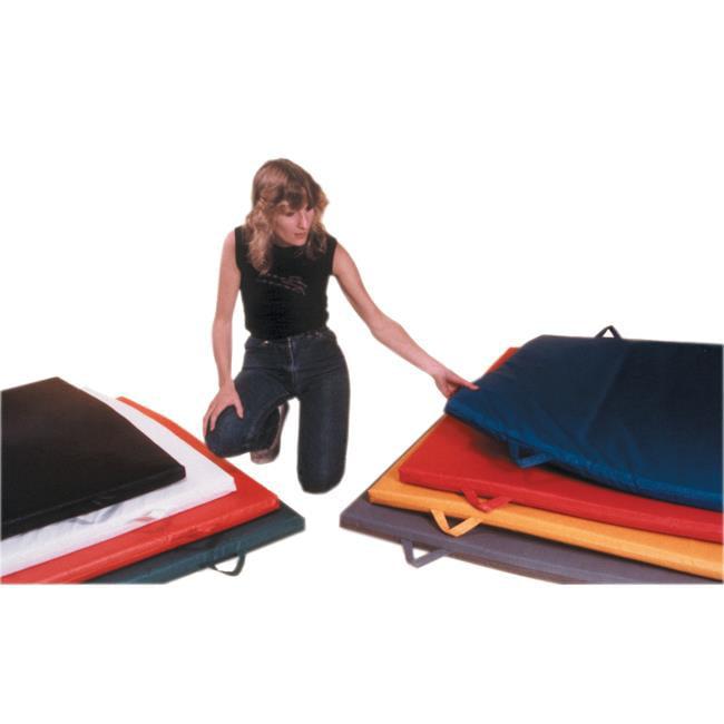Fabrication Enterprises 38-0315 4 x 4 ft. Non-folding Mat with Handles -1.75 in. Ethefoam, Multicolor