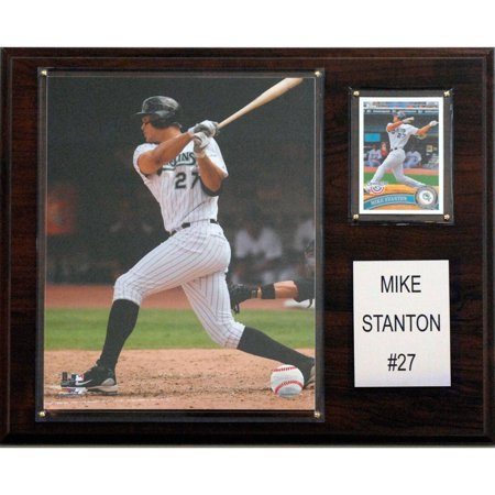 C&I Collectables MLB 12x15 Mike Stanton Florida Marlins Player Plaque Florida Marlins Framed Wall
