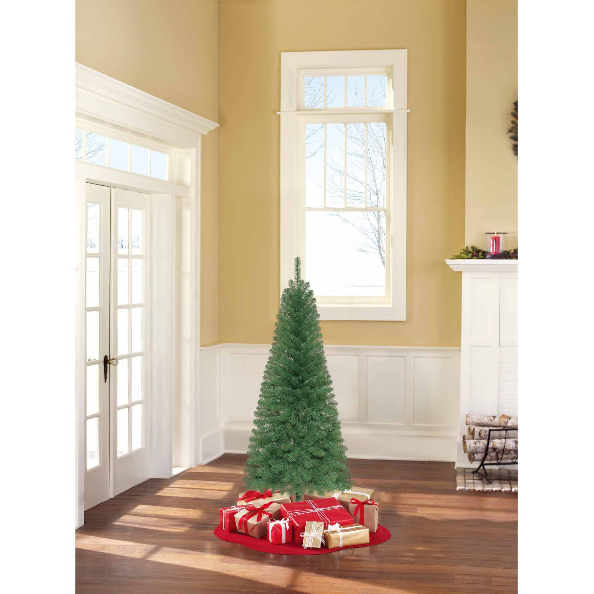 Holiday Time Unlit 6\' Wesley Pine Artificial Christmas Tree ...
