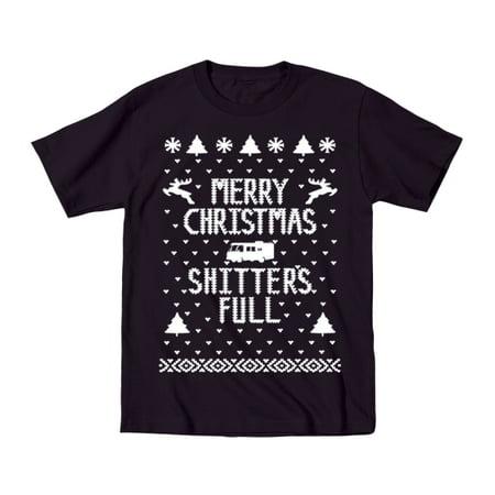 Merry Christmas Sh*Tters Full Baby Toddler 2T Black Toddler T-Shirt
