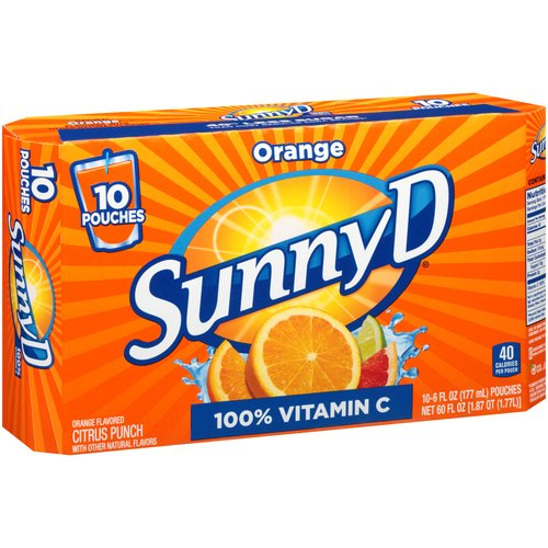 SunnyD Orange Citrus Punch, 6 fl oz, 10 ct