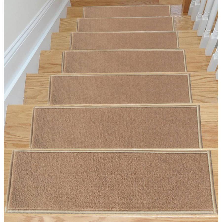 Ottomanson Skid-Resistant Stair Treads, Set of 7, Dark Biege