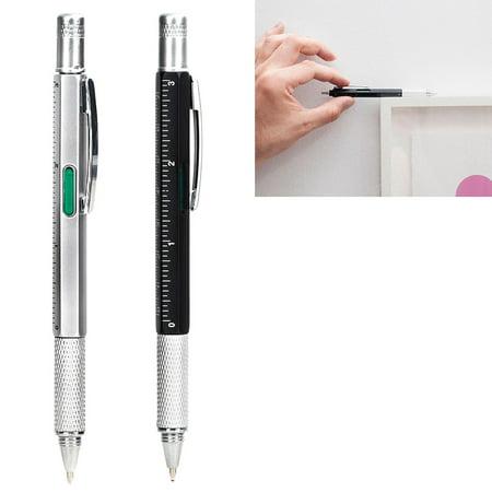 Kikkerland 4in1 Pen Multi Tool Philips Flat Ballpoint Screwdriver Ruler Inch Cm