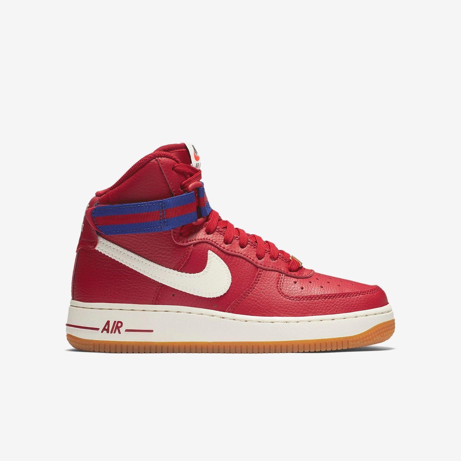 nike air force giovanile alto gs scarpe (653998 605) palestra red / deep royal