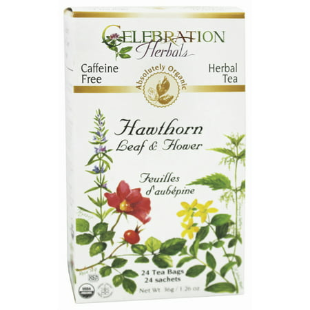 Connection Tee - Celebration Herbals Hawthorn Leaf & Flower Organic, 24 Ct