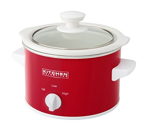 Kitchen Selectives: Kitchen Selectives Slow Cooker, 1.5-Quart, Red