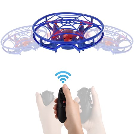 Mini RC Quadcopter Remote Control Drone - ALLCACA Gravity Sensor Controlled Quadcopters with Altitude Hold Mode, 360° Flip, Headless Mode and One-key Takeoff Landing, Blue
