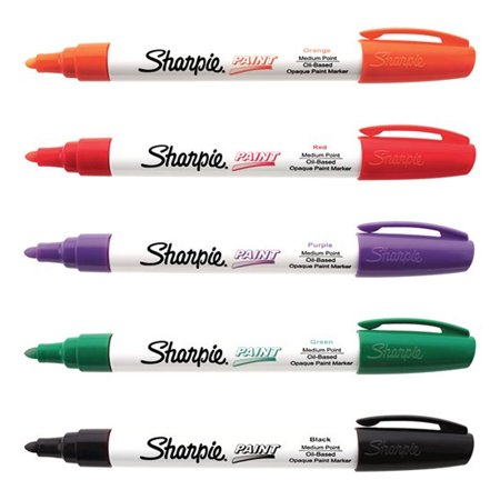Sharpie Paint Marker Halloween Color Kit 5pk Oil Based Medium Point Marker - Halloween Wellington Point