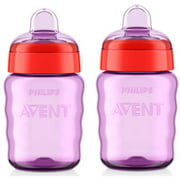 Philips AVENT 9 Ounce My Easy Sippy Spout Cup, BPA-Free, 2-Pack