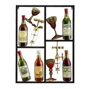 Metal WineDecor Shows Style Of Life