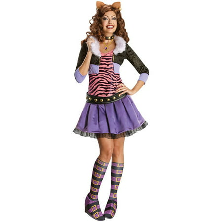Monster High Clawdeen Wolf Adult Halloween Costume](Tween Monster Halloween Costumes)
