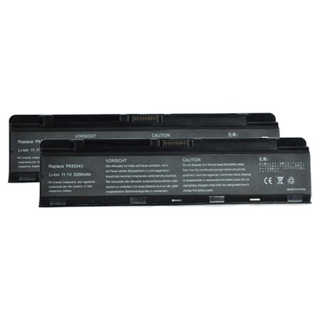 2 Pack Battery For Toshiba PA5024U-1BRS - Fits Satellite C55-A5311 C55-A5330 C55-A5332 Pro C800 L800 M800 P800
