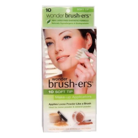 Wonder Brush-ers Make-up Applicators - 10 Soft Tip - White - image 1 of 1