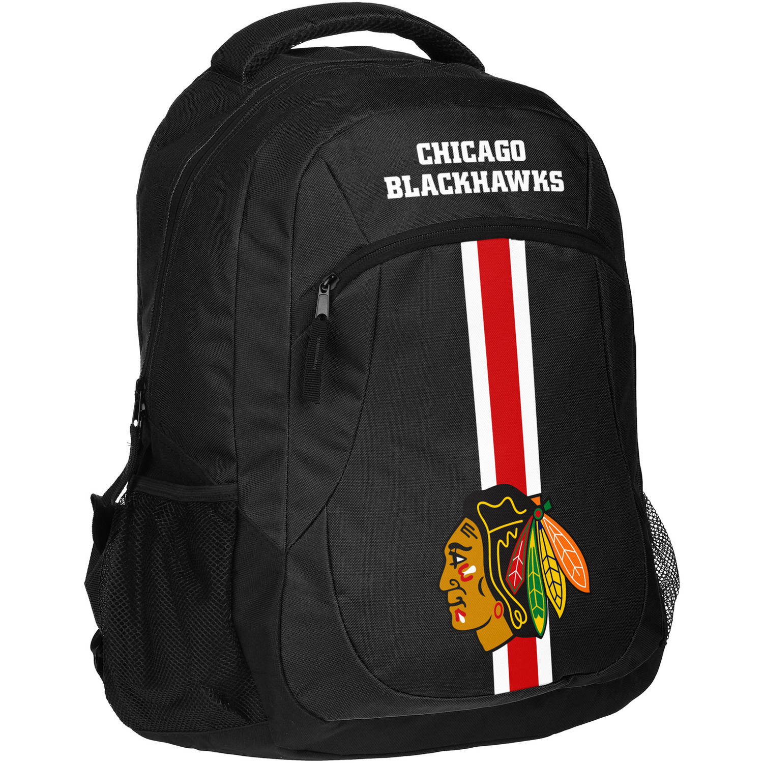 Forever Collectibles NHL Chicago Blackhawks Action Stripe Logo Backpack