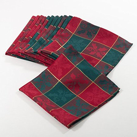 fennco styles royal de noel collection plaid design dinner. Black Bedroom Furniture Sets. Home Design Ideas