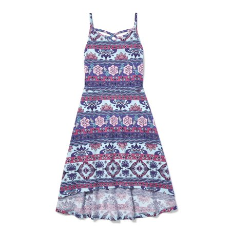 The Children's Place Printed High-Low Midi Dress (Little Girls & Big (Best Places For Dresses)