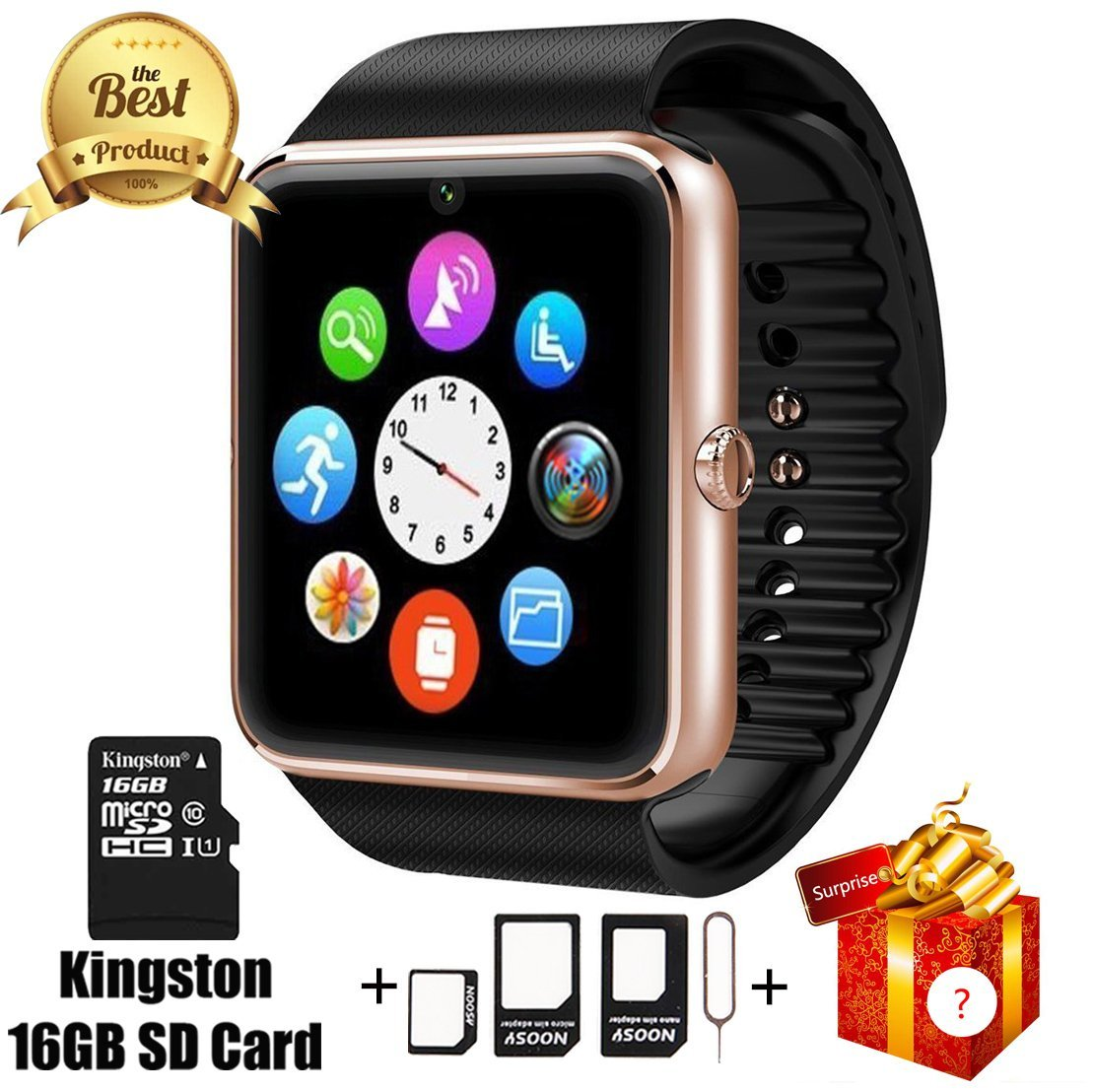 smart watch gt08 bluetooth with 16gb sd card and sim card. Black Bedroom Furniture Sets. Home Design Ideas