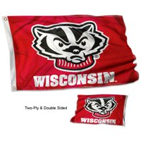 University of Wisconsin Badgers Bucky Double Two Sided Flag