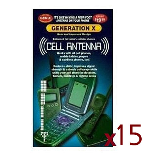 15 Pack of Universal Generation X Cell Phone Antenna Booster Signal Enhancers