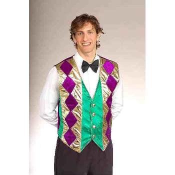 MARDI GRAS VEST - Mardi Gras Tuxedo Vest