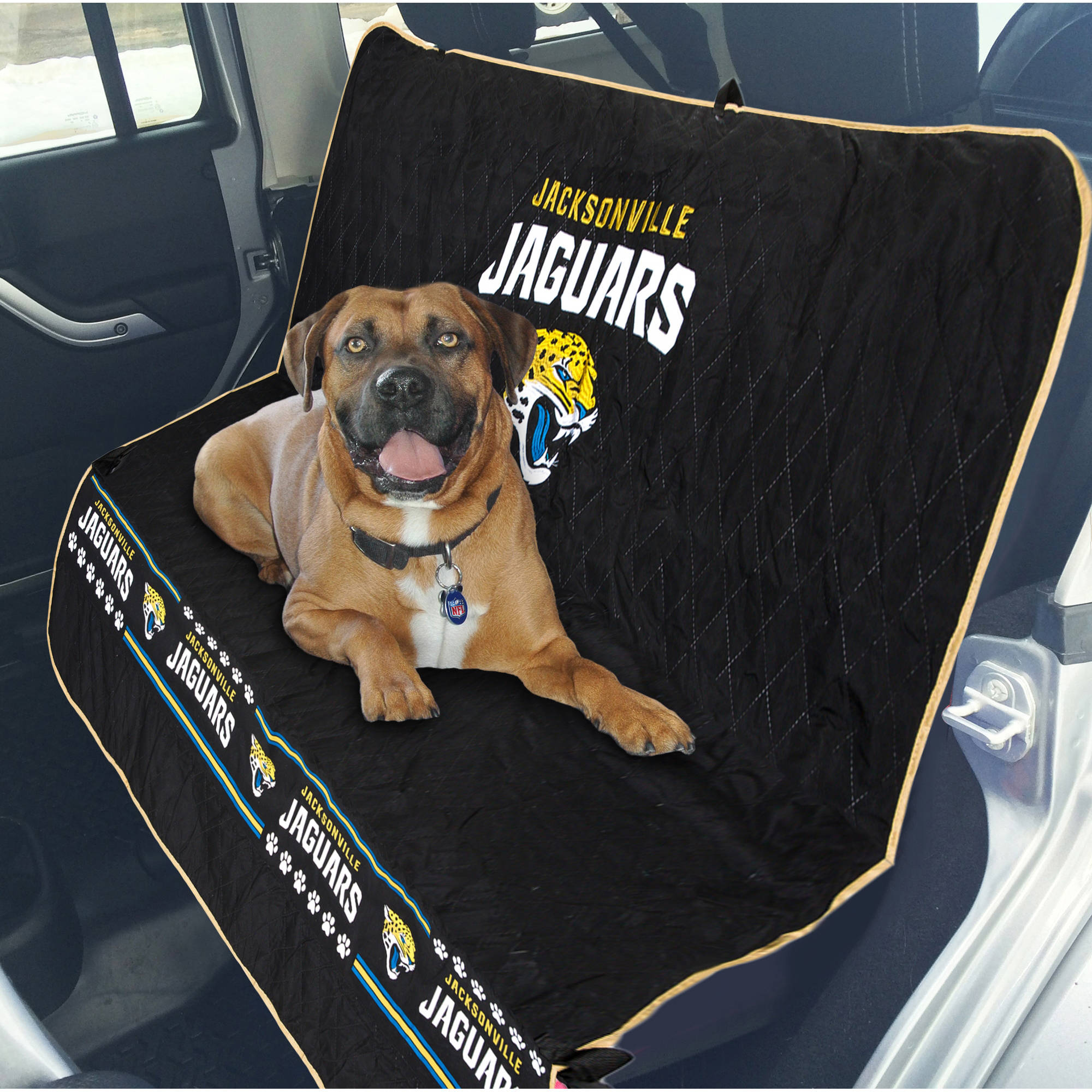 Pets First NFL Jacksonville Jaguars Car Seat Cover