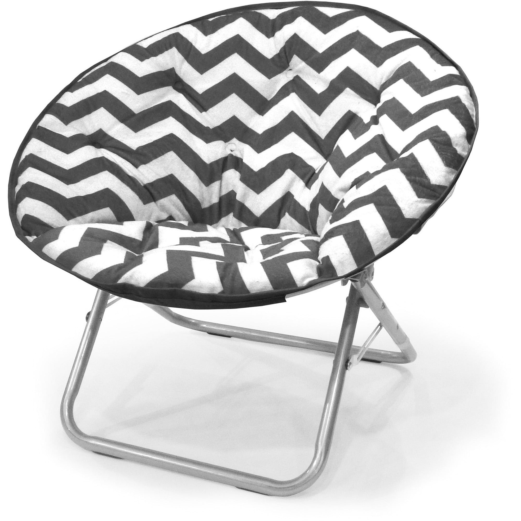 Mainstays Plush Chevron Saucer Chair, Multiple Colors - Walmart.com