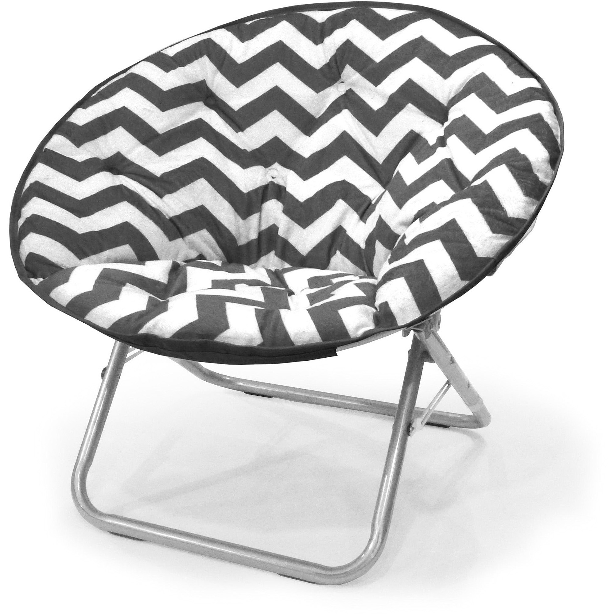 Mainstays Plush Chevron Saucer Chair, Multiple Colors