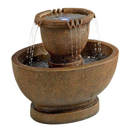 Richardson Oval Urns Cascading Garden Fountain: Grande