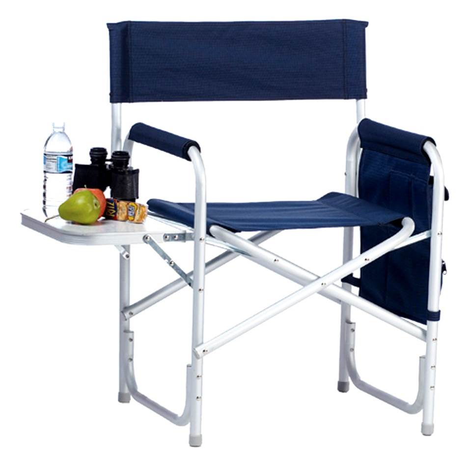Directors Sport Chair with Side Table & Side Panel Pockets