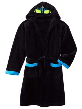 Product Image Joe Boxer Boys Plush Black Mask Hooded Bath Robe Fleece House  Coat 2d07aa9f1