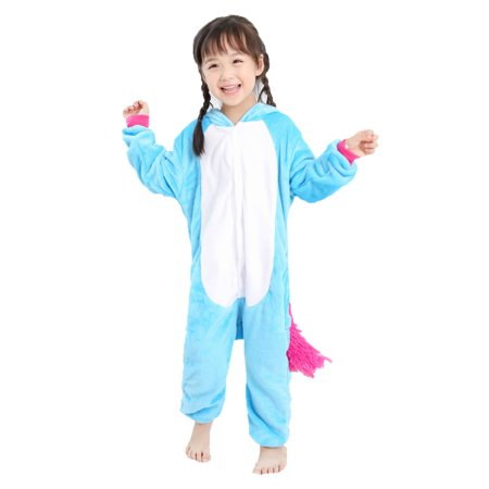 Kids Pajamas, Coxeer 3D Cartoon Animal Jumpsuit Flannel Romper Outfit Cosplay Costume Onesie pajamas Children pajamas for Cold Weather Winter