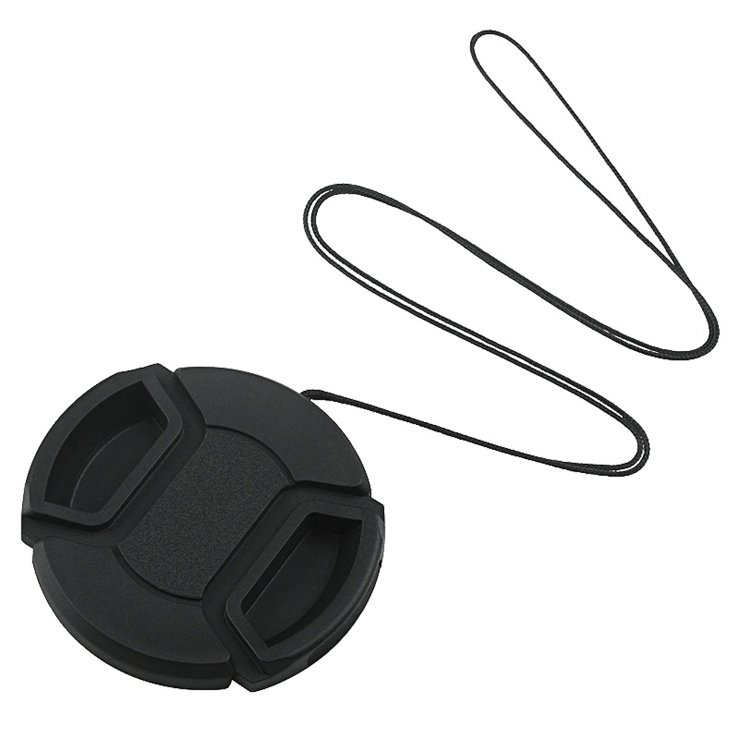 Insten 52mm Front Lens Cap Hood Cover Snap-on with cord for Nikon Canon Pentax Sony