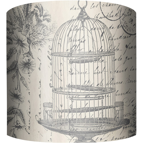 "10"" Drum Lampshade, Bird Cage by"