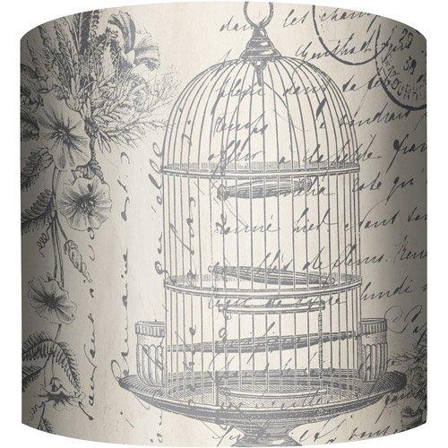 "Bird Lamp Shades: 10"" Drum Lamp Shade, Bird Cage"
