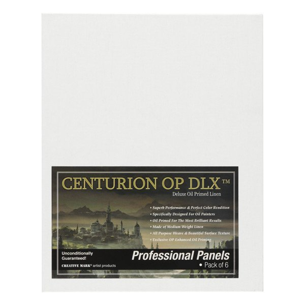 Centurion Deluxe Oil Primed Linen Panel Superb Performance /& Color Retention Designed Specifically for Oil Painters - 6-Pack | 6x12 Professinal Archival Oil Primed Linen Panels