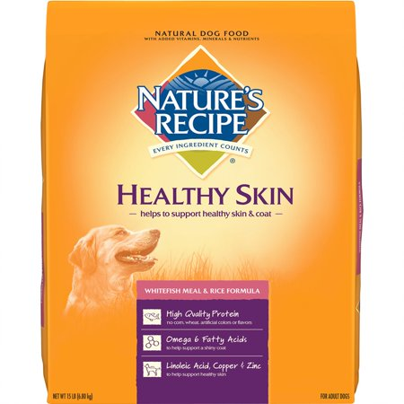 Nature's Recipe Healthy Skin Whitefish Meal & Rice Recipe Dry Dog Food, 15-Pound Bag
