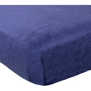 Child of Mine by Carter's Transportation Plush Fitted Crib Sheet, Navy