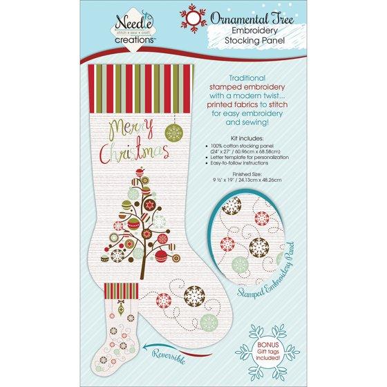 christmas stocking panel for embroidery snowman pk 2 fabric editions walmartcom